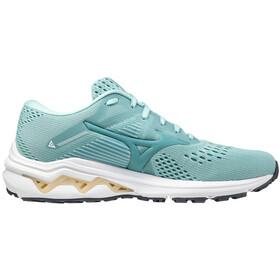 Mizuno Wave Inspire 17 Shoes Women, eggshell blue/dusty/pastel yellow